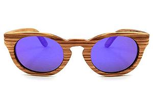 BAOLH Gafas de Sol Gafas Vintage de Madera Gafas de Sol polarizadas para Mujeres y Hombres