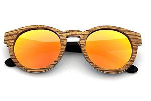 BAOLH Gafas de Sol Gafas de Sol de Marco de Madera Vintage, Lente polarizador (Color : Naranja)