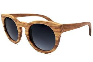 BAOLH Gafas de Sol Vintage Gafas de Sol Redondas con Montura de Madera, Gafas de Sol para Exterior para Hombres y Mujeres (Color : Grey Gradients)