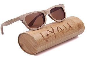 gafas de sol de bamboo polarizadas para hombre y para mujer