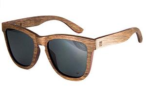 estilo cuadradas gafas de sol en mader mujer y hombre madera