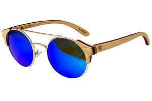 gafas de madera policia polarisado