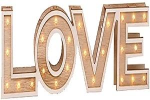 letras iluminadas de madera