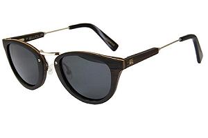 Gafas de sol redondas marcos de madera FEU UV400 - polarizado