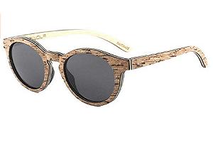 lentes mujer, gafas de sol polarizadas en skateboard woods, gafas redondas UV400 corcho