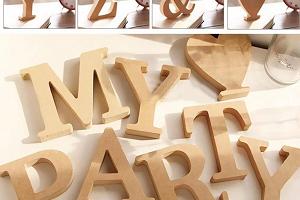 Alfabeto de Madera ecològica original para Bodas, Cumpleaños, Fiestas, Decoración