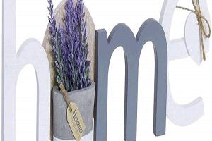 Letras Home decoración Cartel Colgador Pared Lavanda