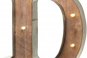 Letras grandes de madera iluminadas 40cm [Clase de eficiencia energética A]