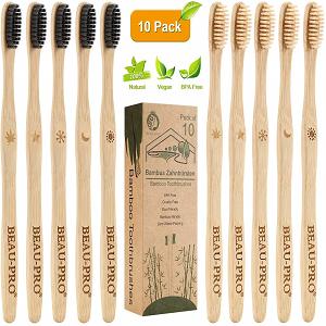 cepillo dientes bambu carbón y fibra de bambú