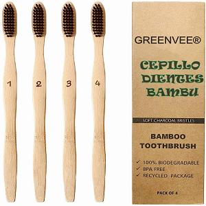 cepillo de dientes bambú carbón activo