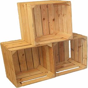 caja de madera de fruta
