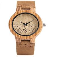reloj de muñeca de madera