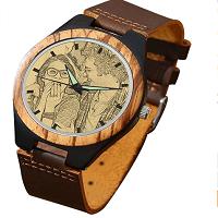reloj de madera hombre personalizado con foto y grabado